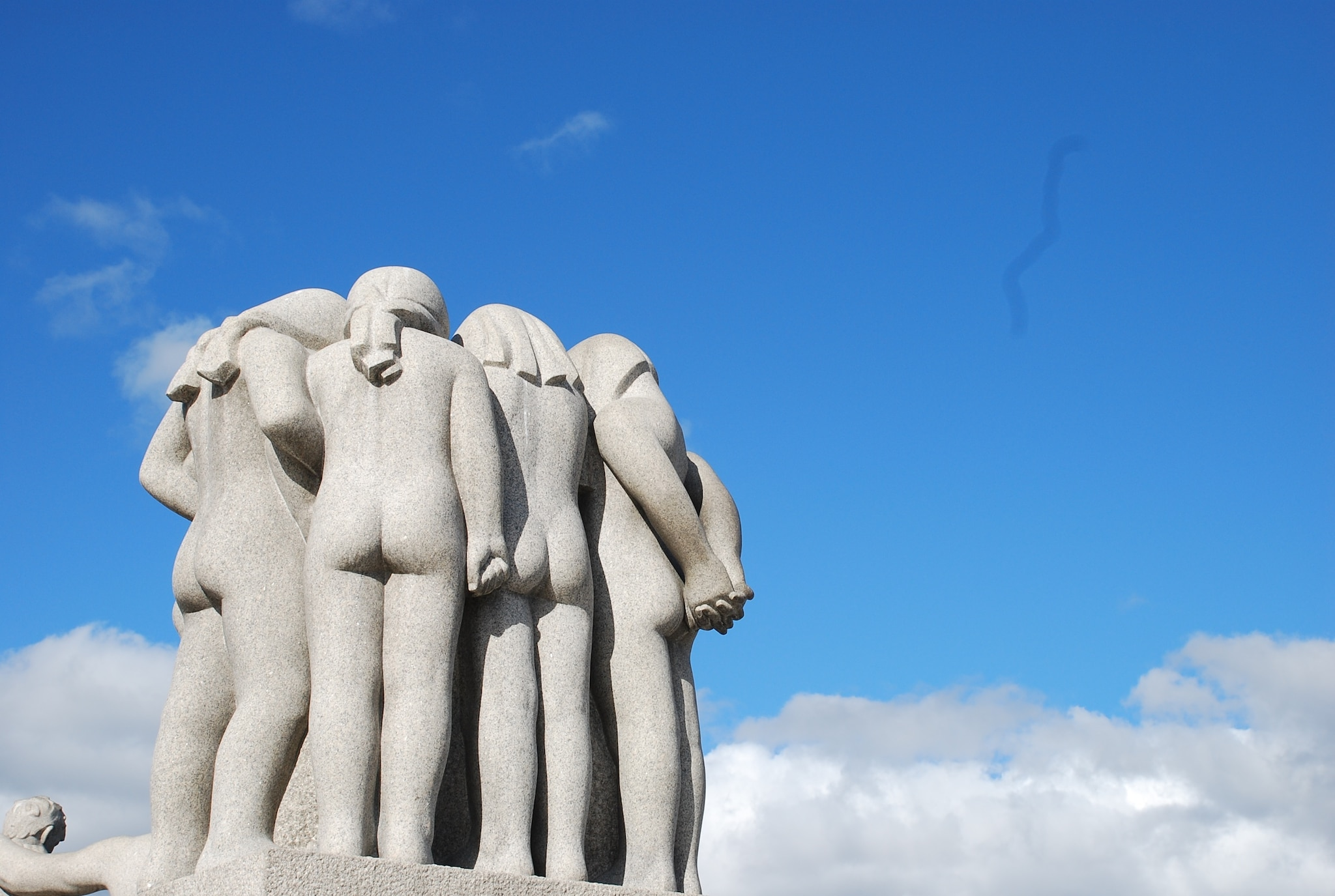 Vigeland Sculpture Park in Frogner Park is the world largest sculpture park by an artist.