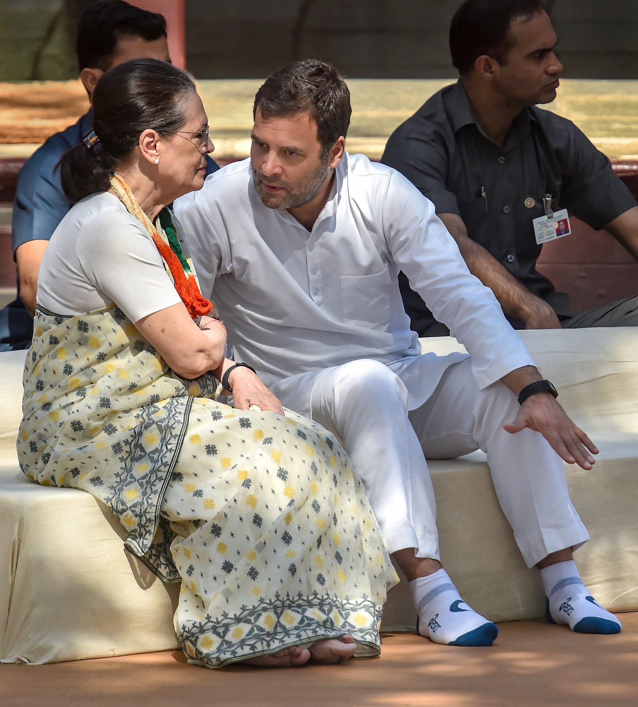 Congress President Rahul Gandhi and United Progressive Alliance chairperson and senior Congress leader Sonia Gandhi. (Image: PTI)