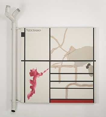 Cracks in Mondrian - Hyderabad (2004-2005) - Atul Dodiya. Winning Bid: Rs 69,00,000