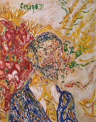 Untitled (Self Portrait) - F N Souza. (1971). Winning Bid: Rs 1,03,50,000
