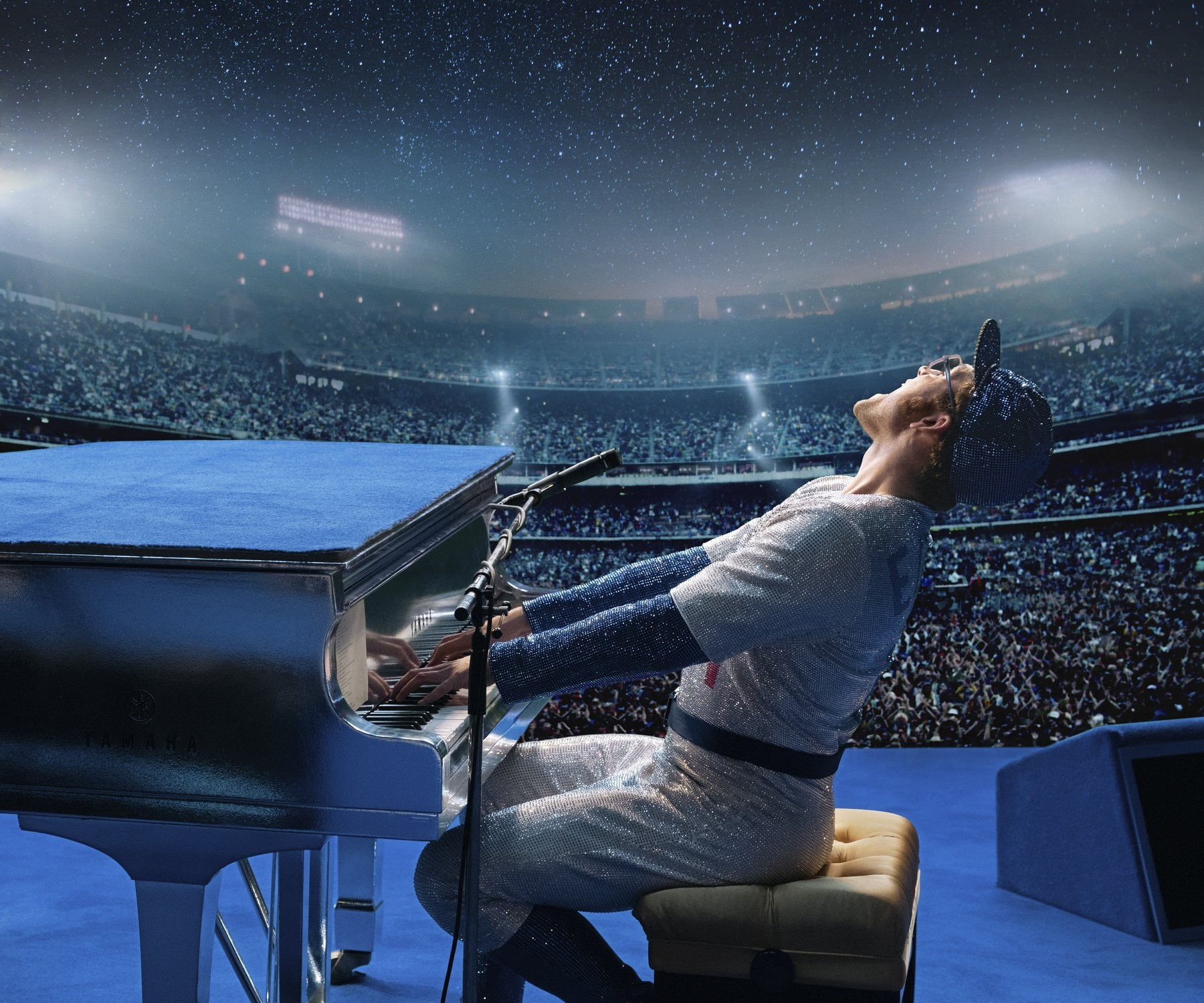 Rocketman (May 31) — Taron Egerton uses his own voice to play Elton John in this fantasy musical biopic, with Jamie Bell and Richard Madden.  (David Appleby/ Paramount Pictures via AP)