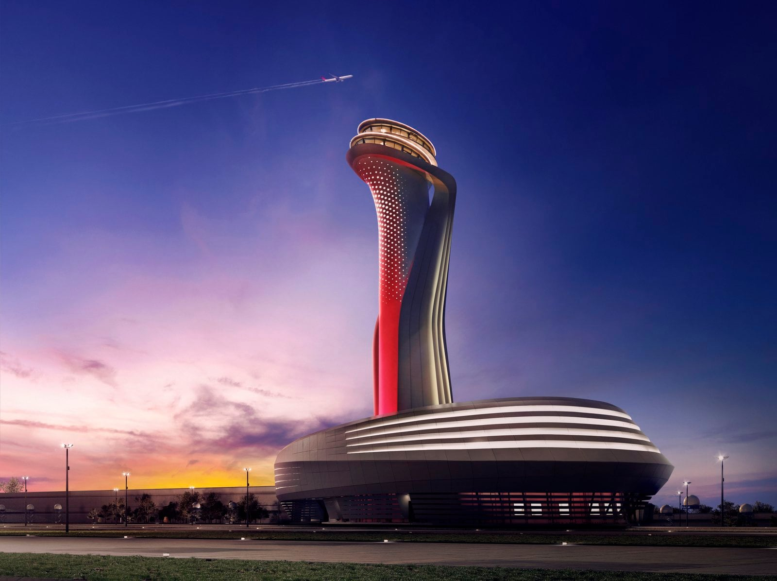 The air traffic control tower at Istanbul New Airport is shaped like a tulip, a popular and symbolic flower in Turkish culture. Photo Credit-IGA