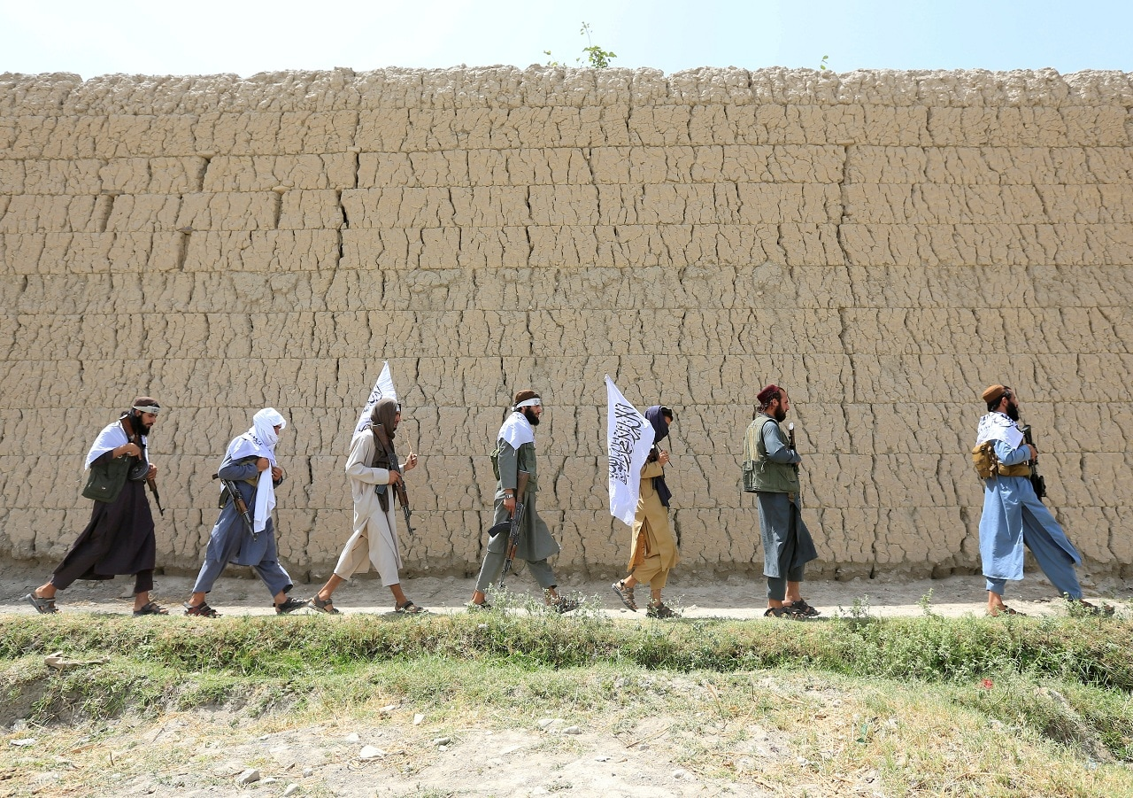 Taliban walk as they celebrate ceasefire in Ghanikhel district of Nangarhar province, Afghanistan June 16, 2018.(Reuters/File Photo)