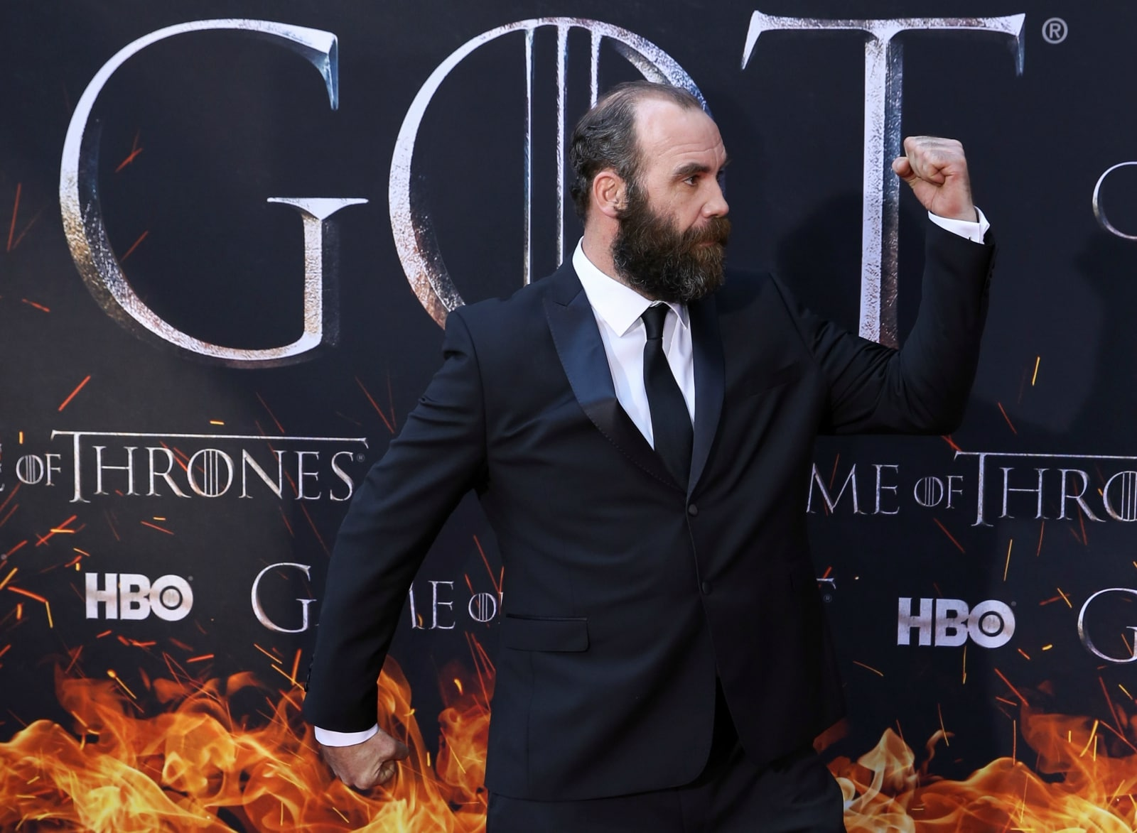 Rory McCann, aka Sandor Clegane, arrives for the premiere of the final season of