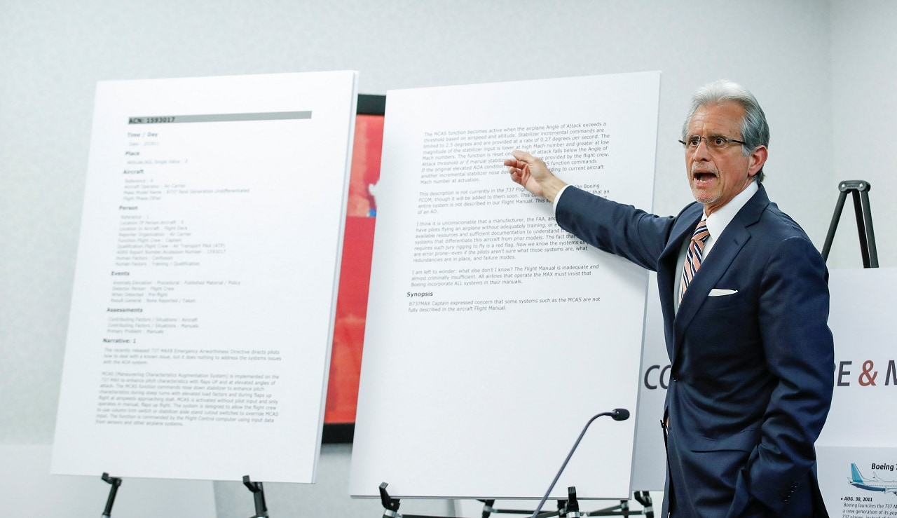 Lawyer Frank M. Pitre from Cotchett, Pitre & McCarthy speaks in relation to a lawsuit regarding the crash of Ethiopian Airlines Flight 302 on behalf of the family of victim Samya Stumo, niece of Ralph Nader, in Chicago, Illinois, US, April 4, 2019. (Reuters)