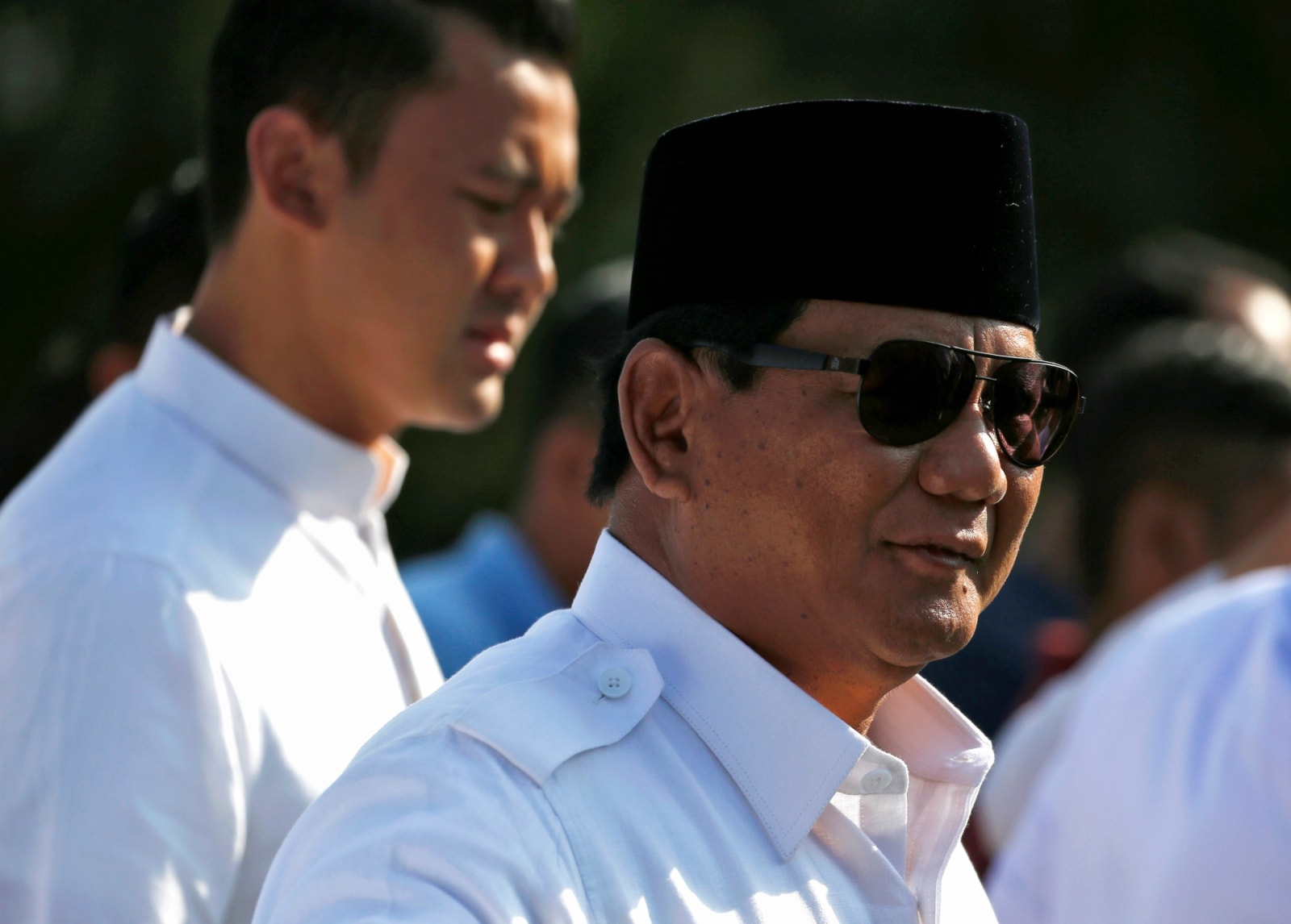 Indonesian presidential candidate Prabowo Subianto at a polling booth during elections in Bogor, West Java, Indonesia April 17, 2019. REUTERS/Willy Kurniawan