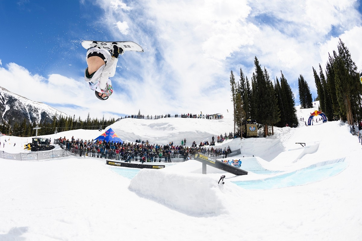 Participants perform at Red Bull SlopeSoakers held at Copper Mountain. (Brett Wilhelm / Red Bull Content Pool.)