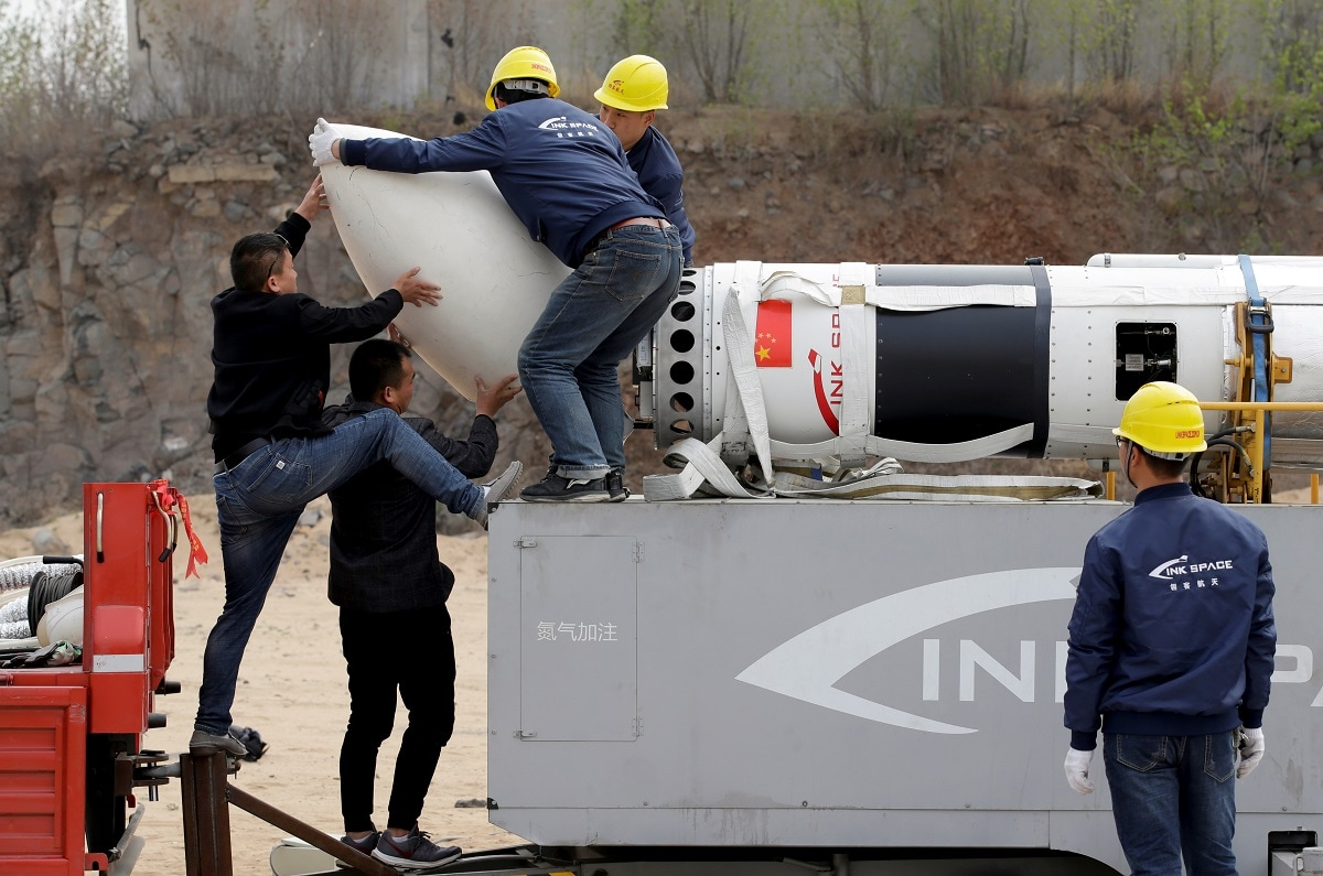 LinkSpace's Hu aspires to build reusable rockets that return to Earth after delivering their payload, much like the Falcon 9 rockets of Elon Musk's SpaceX. (REUTERS/Jason Lee)