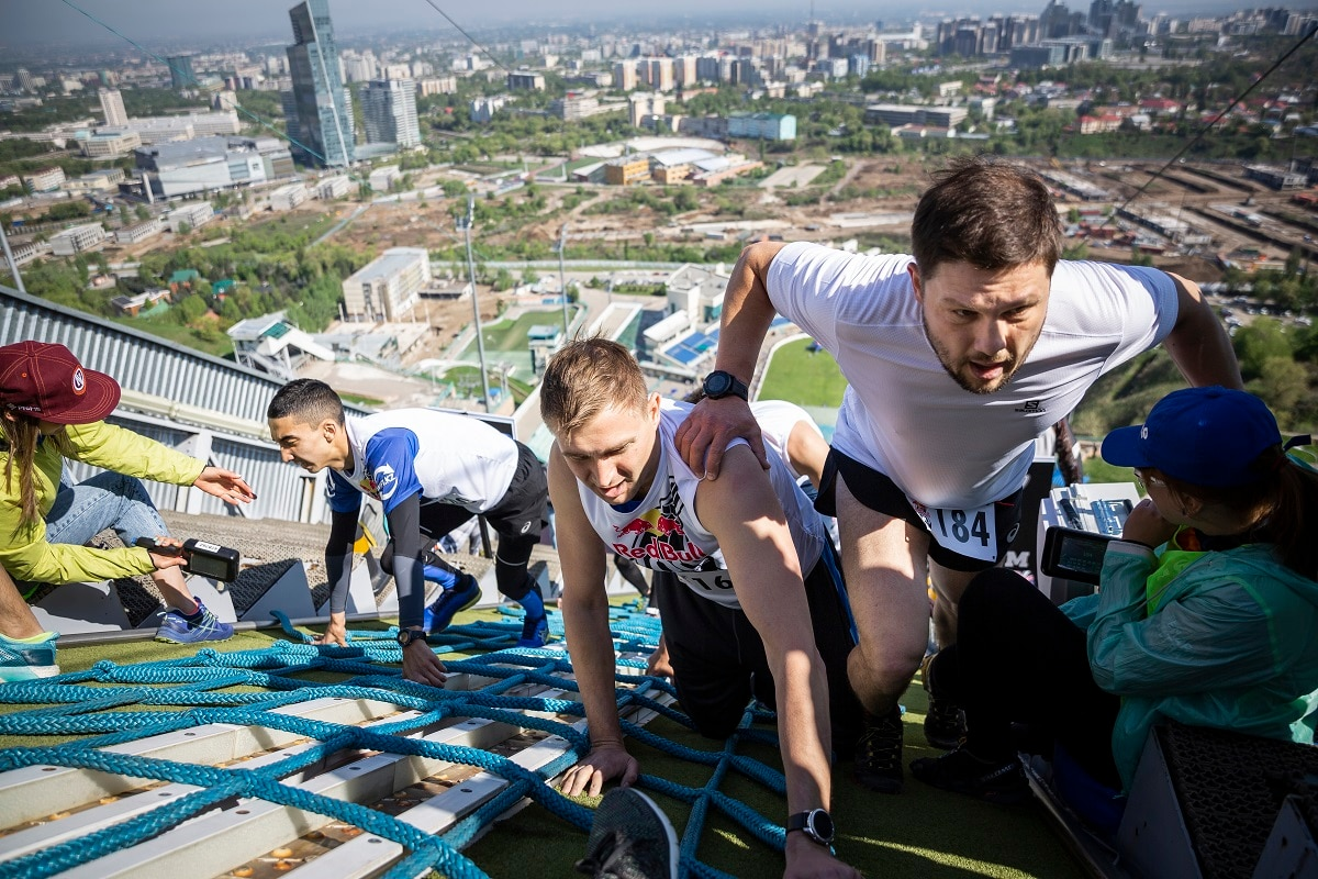The climb reaches 37 degrees steepness with most athletes reduced to all fours when the slope reaches 30 degrees. (Ilona Gerezhuk / Red Bull Content Pool)