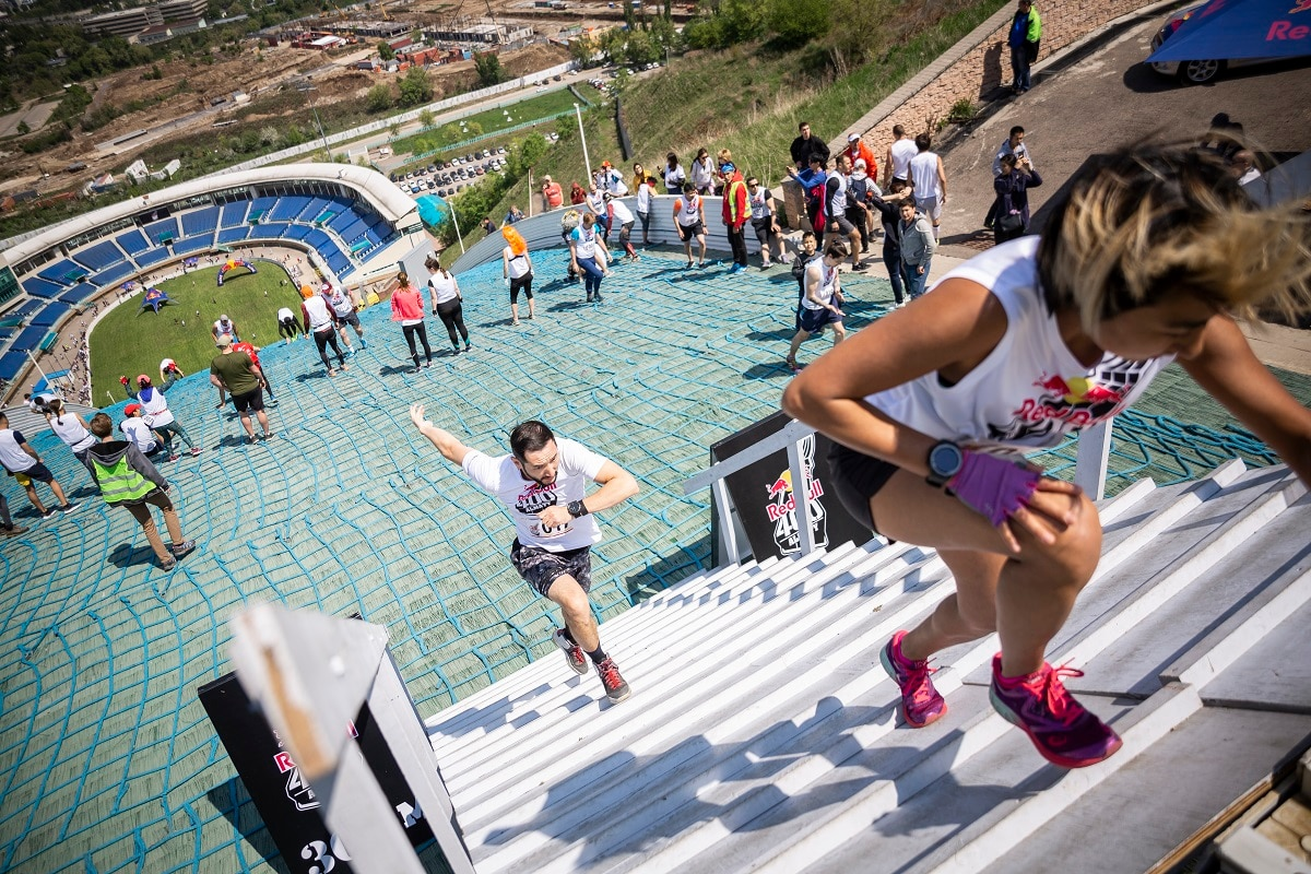 Originally invented in Austria in 2011, the event has grown into an international competition, drawing in runners from a variety of sporting disciplines, and all fitness levels. (Ilona Gerezhuk / Red Bull Content Pool)