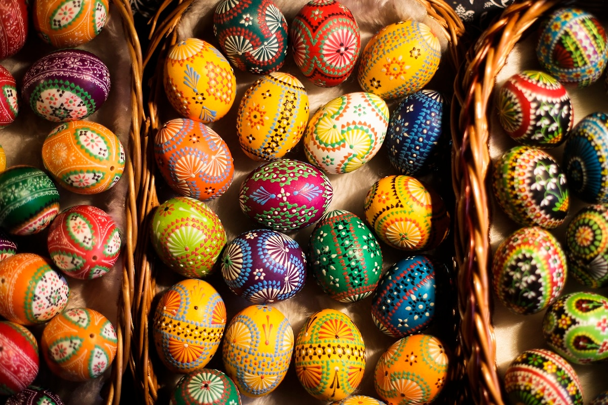 A tiny Slavic minority in Germany is keeping alive a long and intricate tradition of hand-painting Easter eggs with the help of knives, feathers and wax. (AP Photo/Markus Schreiber)