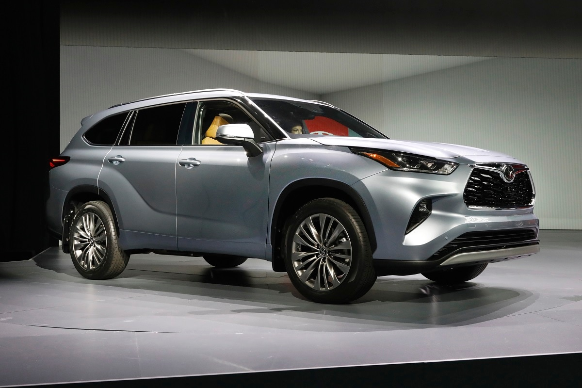 The 2020 Toyota Highlander is presented at the 2019 New York International Auto Show, in New York. (AP Photo/Richard Drew)