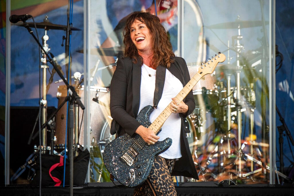 Alanis Morissette performs at the New Orleans Jazz and Heritage Festival on Thursday, April 25, 2019, in New Orleans. (Photo by Amy Harris/Invision/AP)