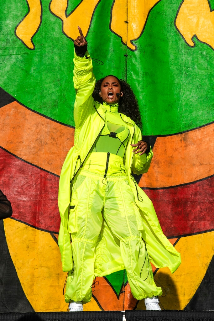Ciara performs at the New Orleans Jazz and Heritage Festival on Thursday, April 25, 2019, in New Orleans. (Photo by Amy Harris/Invision/AP)