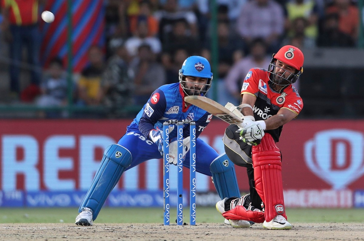 Royal Challengers Bangalore batsman Parthiv Patel plays a shot during VIVO IPL cricket T20 match against Delhi Capitals. (AP Photo/Altaf Qadri)