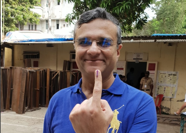 Founder Director of Elixir Capital, Dipan Mehta, voted in Mumbai on Monday. The seven-phase Lok Sabha elections started on April 11 and would conclude on May 19. Counting of votes will take place on May 23. (stock image)