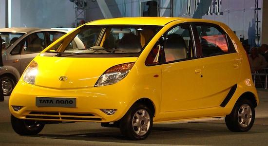 Tata Nano, a compact city car manufactured and marketed by Tata Motors.