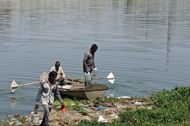 Sabarmati, the river that Gandhi once chose to live by, is now dry and polluted