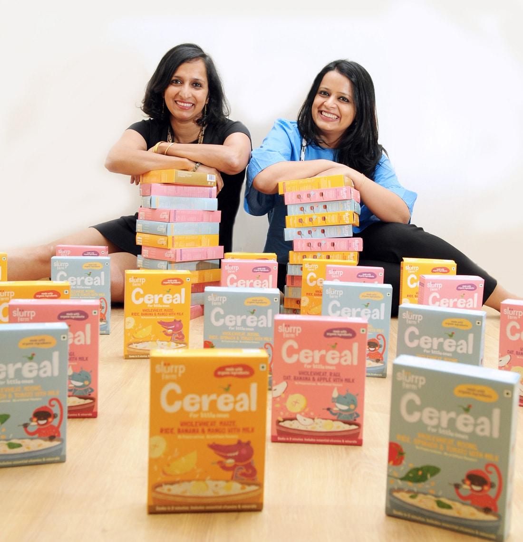 Slurrp Farm founders Meghana Narayan and Shauravi Malik