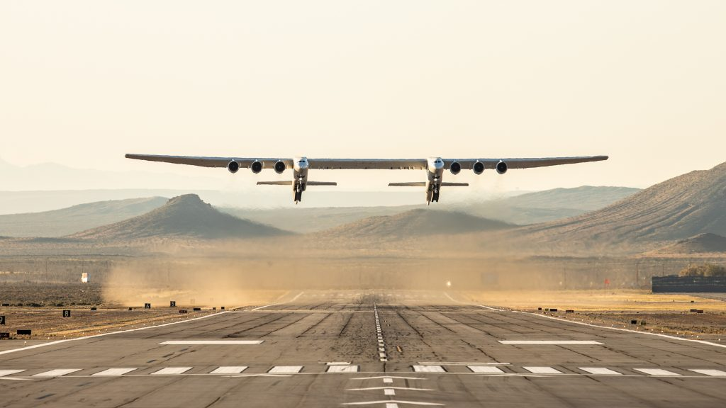 The Stratolaunch aircraft is a mobile launch platform that will enable airline-style access to space that is convenient, affordable and routine. (Image Credit: Stratolaunch)
