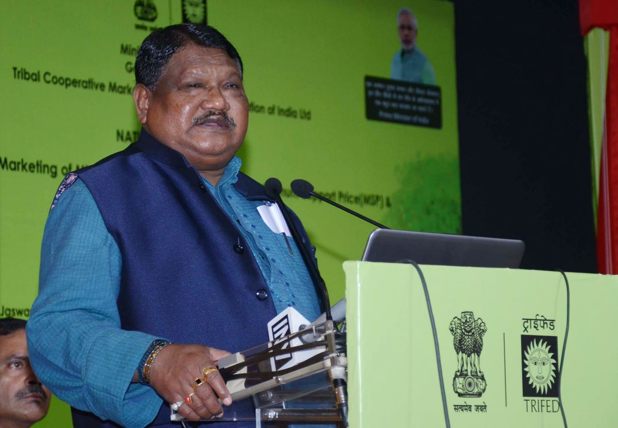 Jual Oram, union tribal affairs minister, in the previous government was dropped from the Modi government this time.