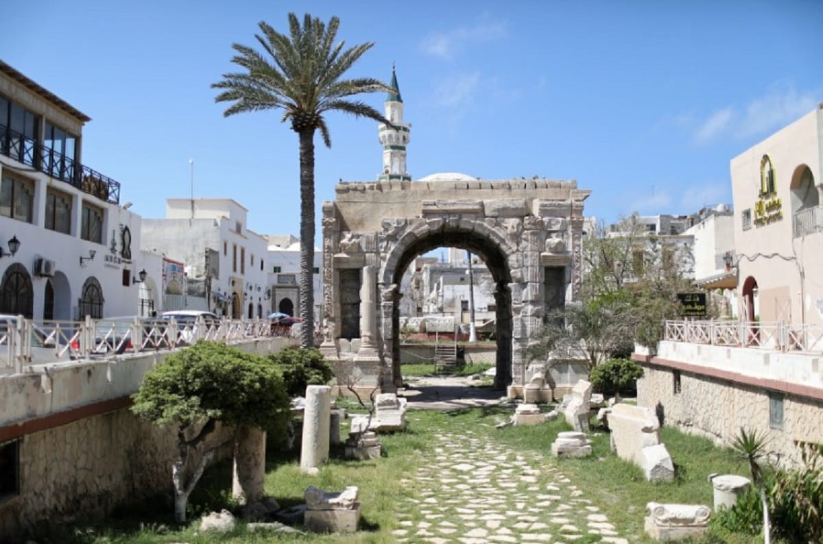 A general view of Arch of Marcus Aurelius at the old city of Tripoli. (REUTERS/Ahmed Jadallah)