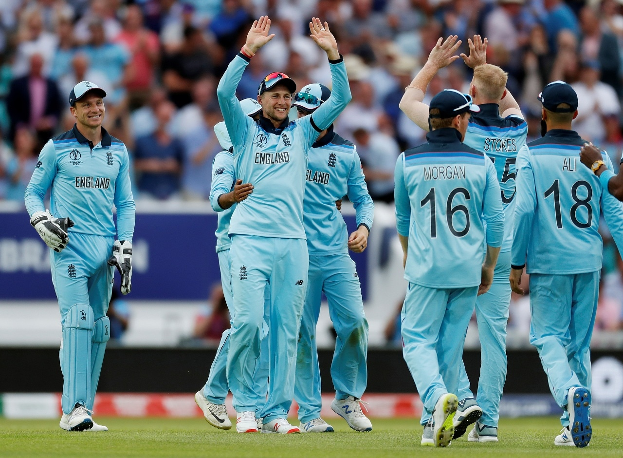 Cricket - ICC Cricket World Cup - England v South Africa - Kia Oval, London, Britain - May 30, 2019 England's Joe Root celebrates winning the match Action Images via Reuters/Paul Childs
