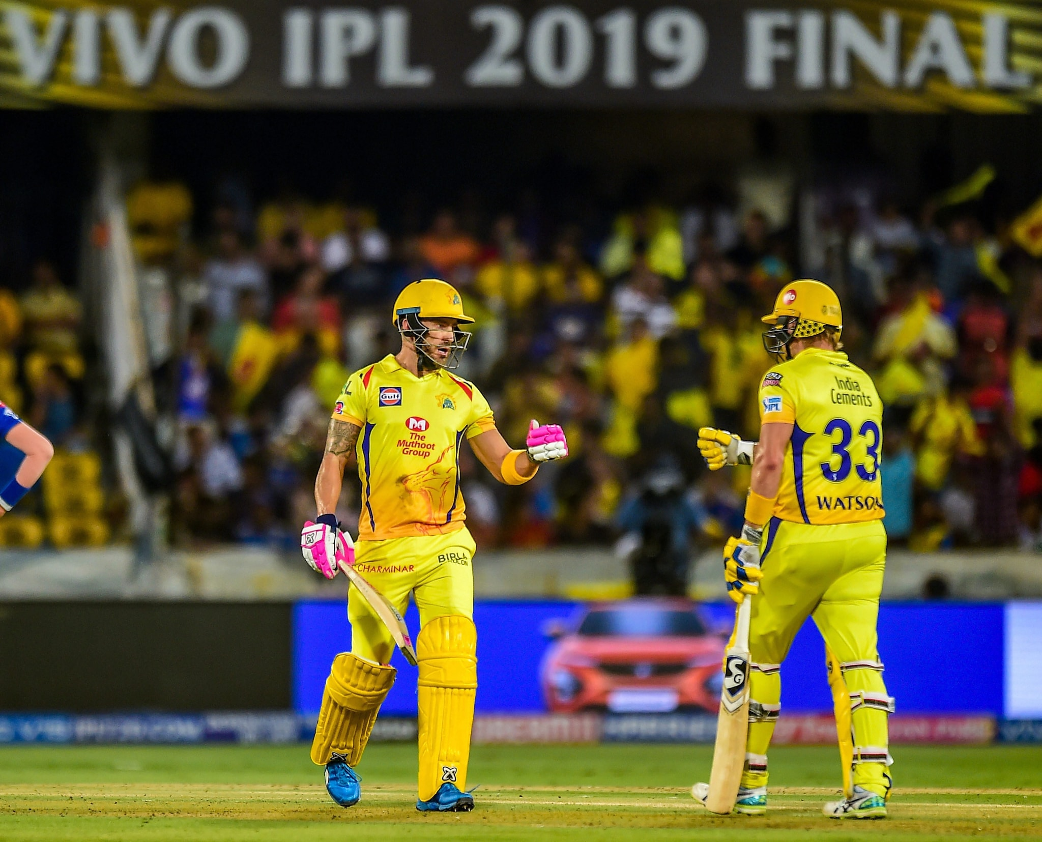 Chennai Super Kings (CSK) openers Shane Watson and Faf du Plessis during the IPL final on Sunday | PTI