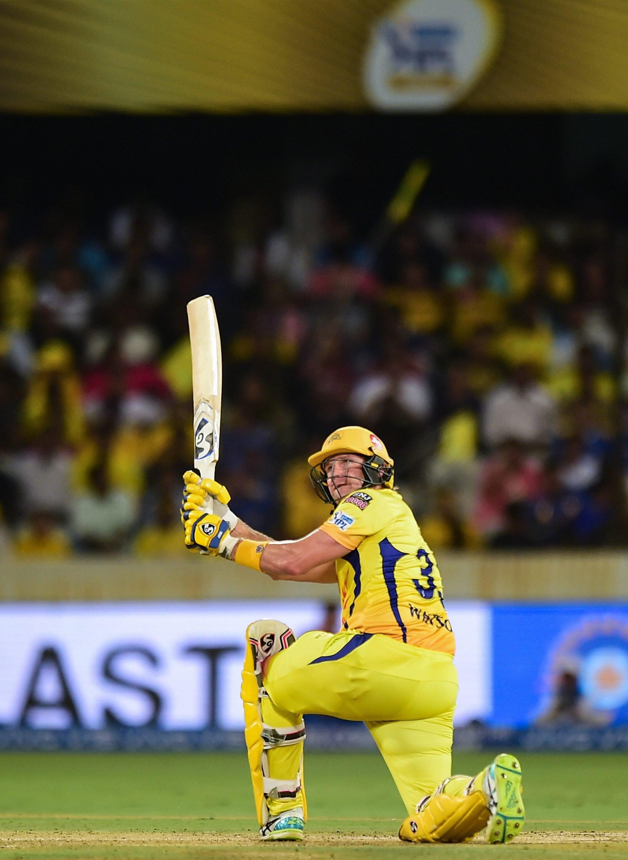 CSK opener Shane Watson plays a shot during the Indian Premier League 2019 final cricket match   PTI
