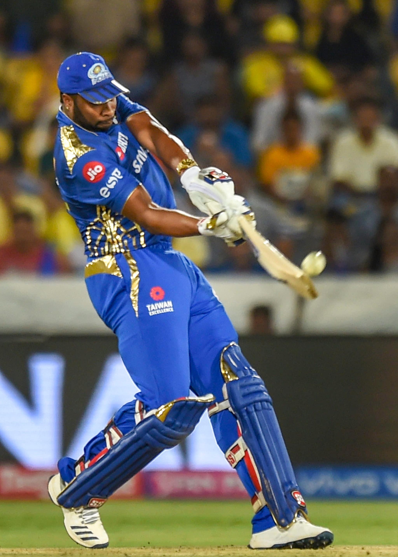 MI batsman Kieron Pollard plays a shot during the Indian Premier League 2019 final cricket match   PTI