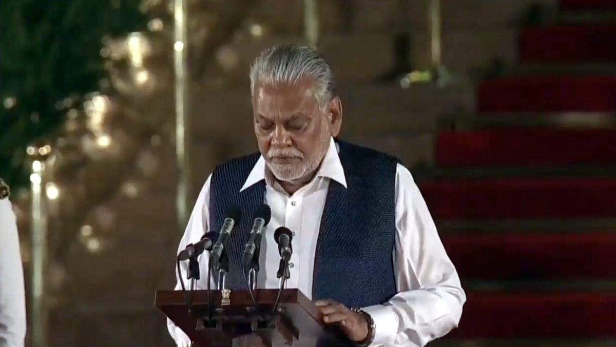 Rajya Sabha MP Parshottam Rupala takes oath as Union Minister at a swearing-in ceremony at Rashtrapati Bhavan in New Delhi on May 30, 2019. (Photo: IANS)