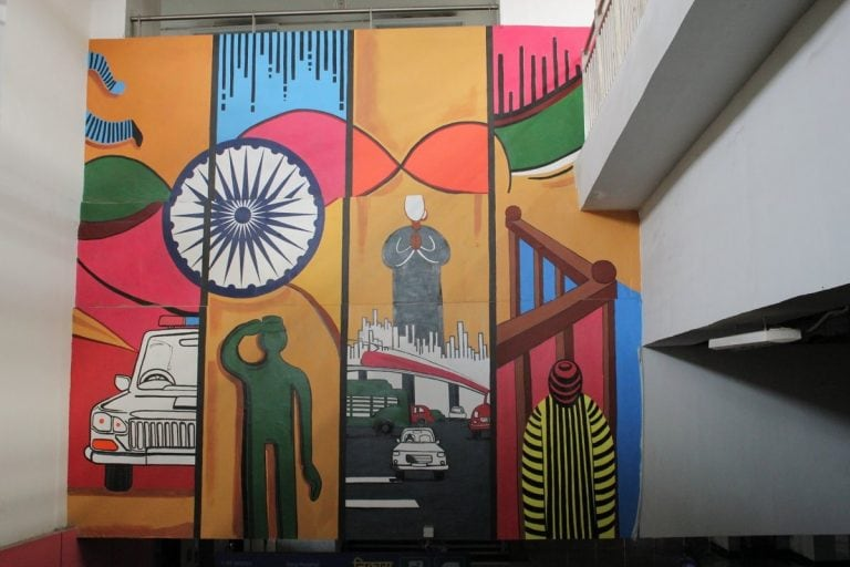 Art of commuting: Delhi metro stations double up as art galleries