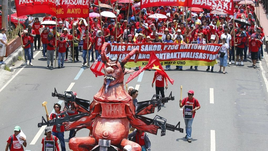 Workers across the globe celebrate May Day