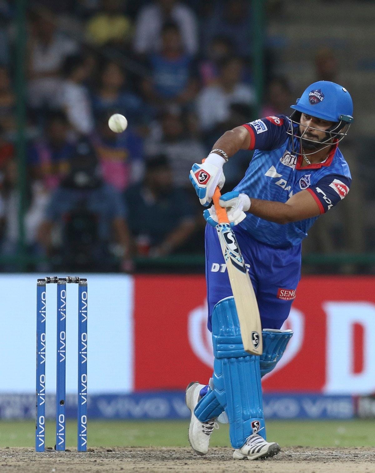 Rishabh Pant of Delhi Capitals bats during the VIVO IPL T20 cricket match between Delhi Capitals and Rajasthan Royals. (AP Photo/Surjeet Yadav)