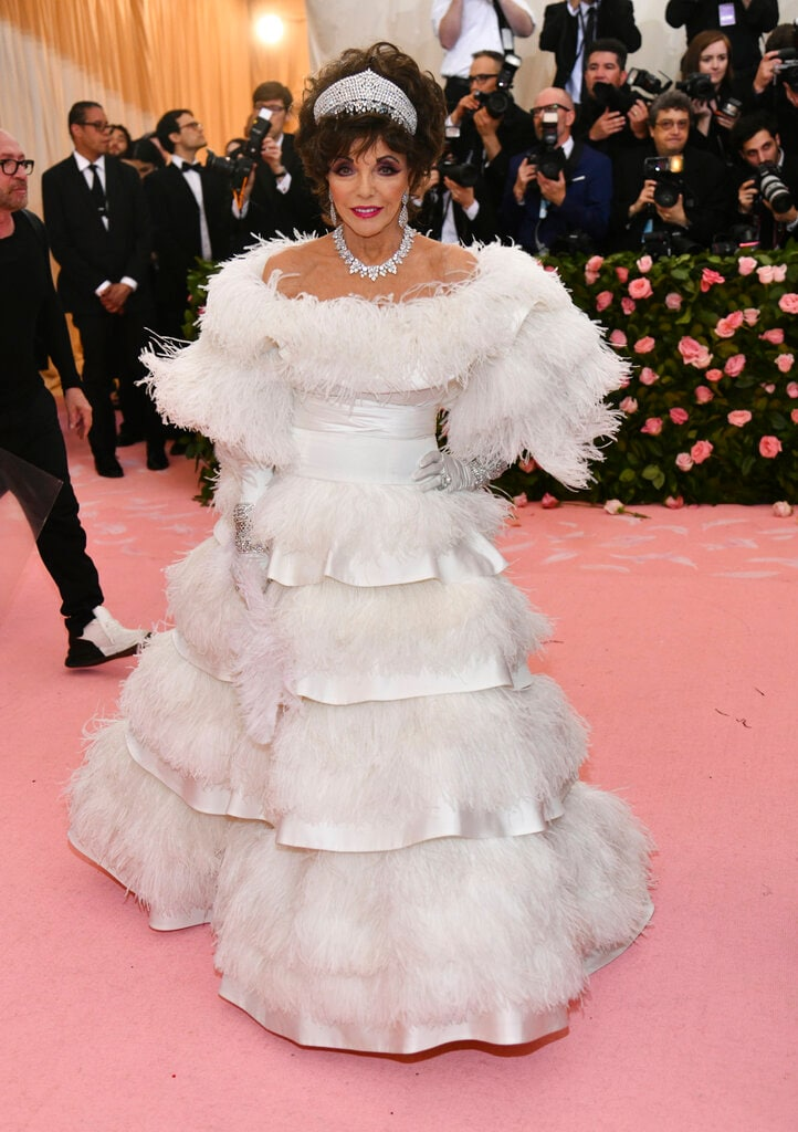 Joan Collins attends The Metropolitan Museum of Art's Costume Institute benefit gala on Monday, May 6, 2019, in New York. (Photo by Charles Sykes/Invision/AP)