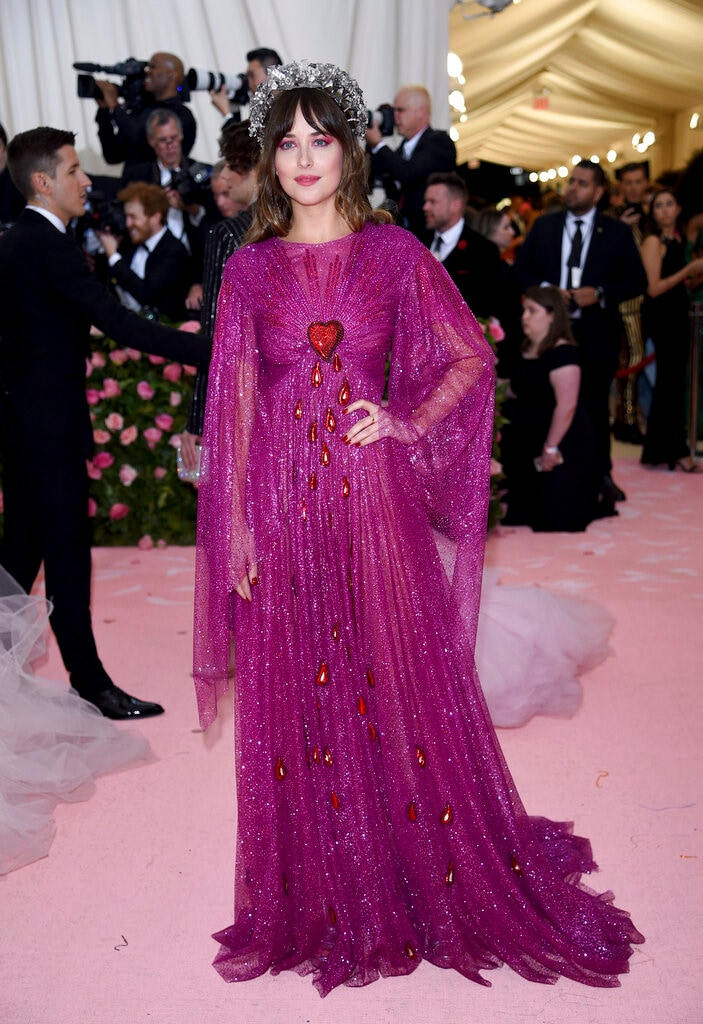 Dakota Johnson attends The Metropolitan Museum of Art's Costume Institute benefit gala on Monday, May 6, 2019, in New York. (Photo by Evan Agostini/Invision/AP)