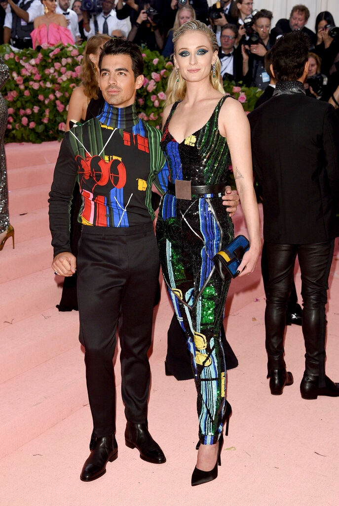 Joe Jonas, left, and Sophie Turner attend The Metropolitan Museum of Art's Costume Institute benefit gala on Monday, May 6, 2019, in New York. (Photo by Evan Agostini/Invision/AP)