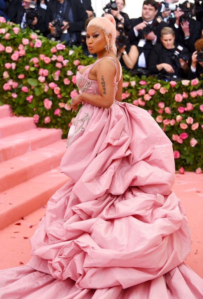 Nicki Minaj attends The Metropolitan Museum of Art's Costume Institute benefit gala on Monday, May 6, 2019, in New York. (Photo by Evan Agostini/Invision/AP)