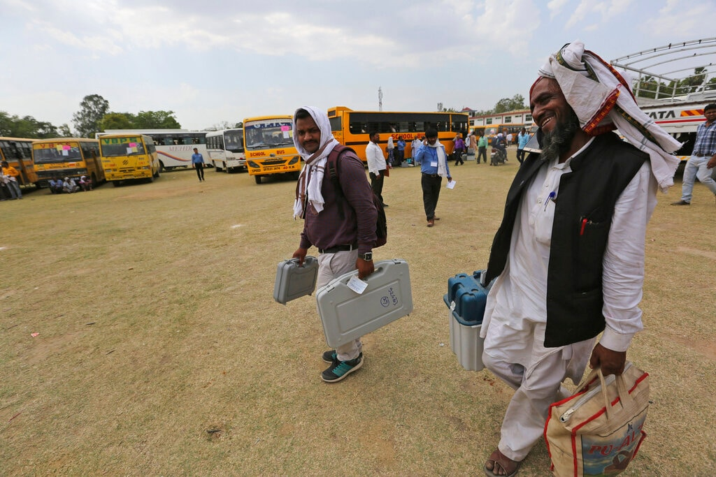 Over 10.17 crore voters are eligible to exercise their franchise to choose among the 979 candidates in fray. (AP Photo/Rajesh Kumar Singh)