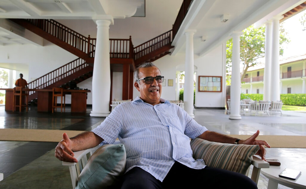 "In this Friday, May 10, 2019, photo, Jan Van Twest, the general manager of Fortress Resort and Spa, speaks to The Associated Press in Galle, Sri Lanka. ""In the past we have had about many serious crises and we have recovered. I am quite positive we can do it again,"" Twest said. According to the government's tourism agency, the tourist arrival has shown a 80 percent decrease after the attack. (AP)"