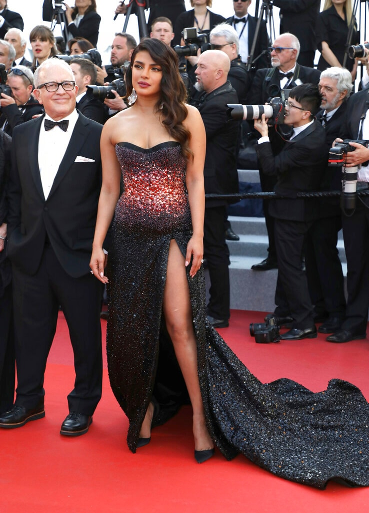 Actress Priyanka Chopra poses ahead of the premiere of the film 'Rocketman' at the 72nd international film festival, Cannes, southern France, Thursday, May 16, 2019. (Image: AP)