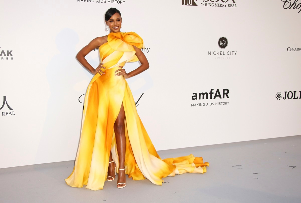 Model Jasmine Tookes poses for photographers upon arrival at the amfAR, Cinema Against AIDS, benefit at the Hotel du Cap-Eden-Roc. (Photo by Joel C Ryan/Invision/AP)