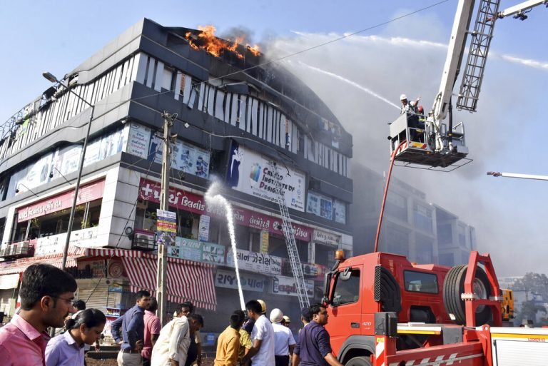 Fire in tutoring center kills 19 students in Surat
