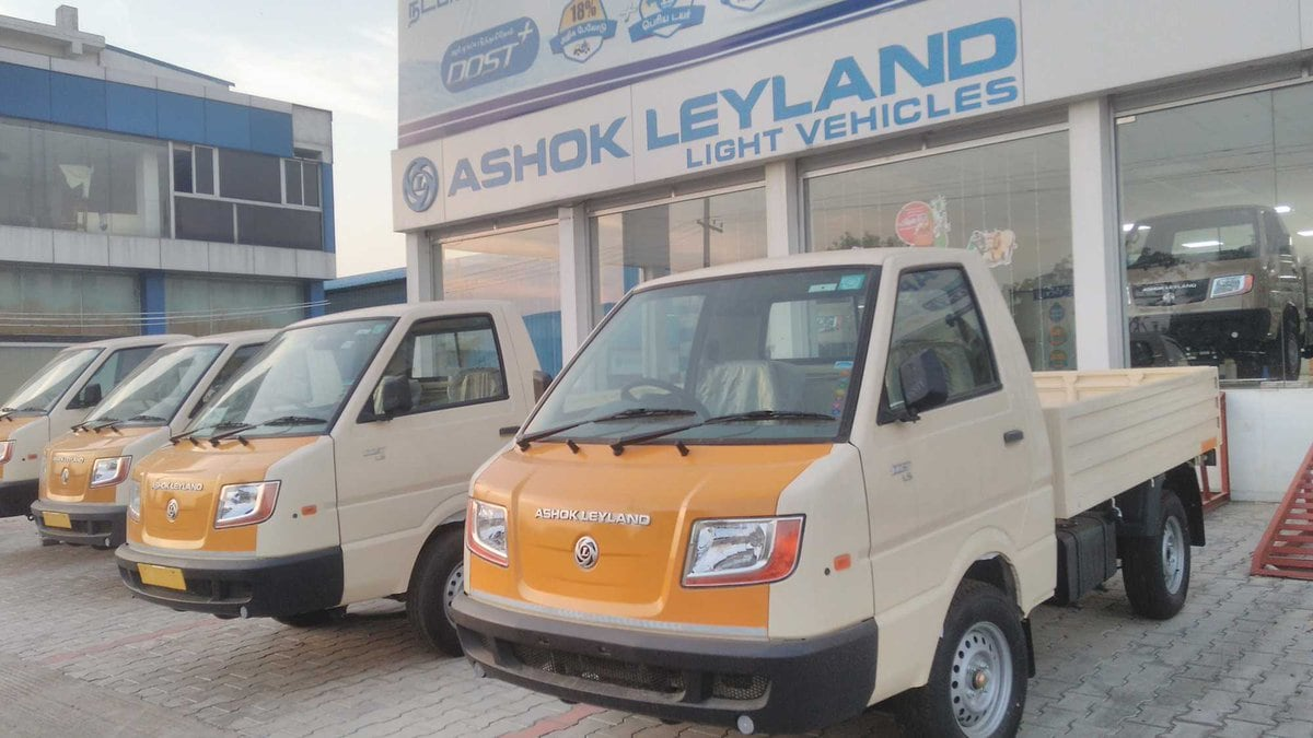 Shares of Ashok Leyland fell 4.1 percent to touch its 52-week low of Rs 71.90 per share after the company announced a dividend of Rs 3.10 per share at its annual general meeting on Tuesday. (Image: Company)
