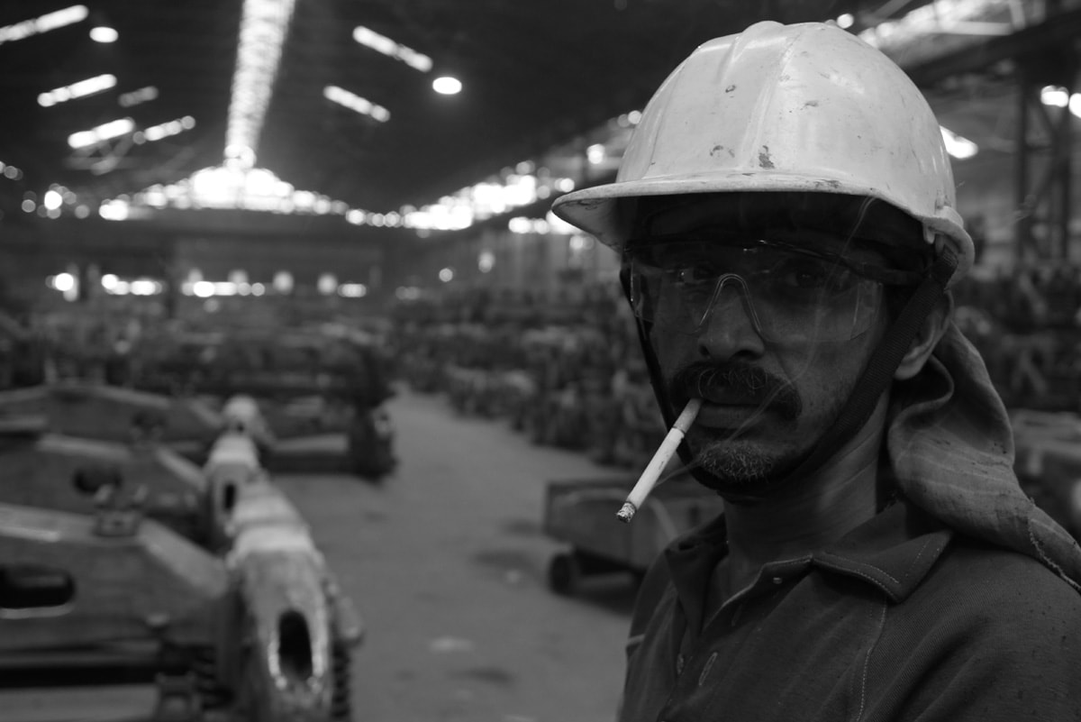 A worker catches a break inside a rail wheel factory as the world celebrated International Workers' Day on May 1. Also known as May Day, the day marks the acceptance of a maximum of 8 hours as an employee's official working hours in a day and honours the sacrifices and protests of workers during the 19th century.