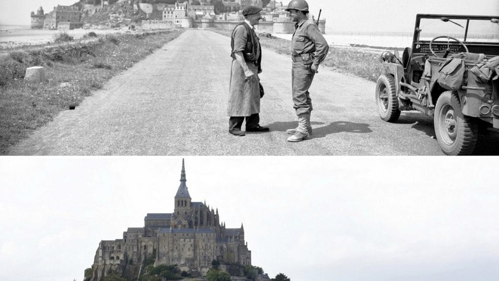 In pictures: D-Day's landscape in 1944 and today
