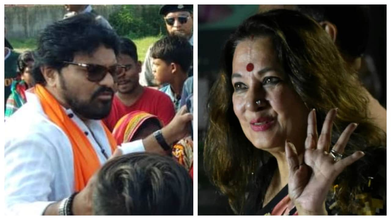 Babul Supriyo vs Moon Moon Sen (Asansol): Supriyo won one of only two seats the BJP holds in the state, defeating Trinamool's Dola Sen. This time Mamata has fielded actor-turned-politician Moon Moon Sen from the parliamentary constituency. (Image courtesy: Facebook & Twitter)