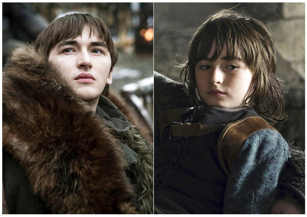Isaac Hempstead Wright as Bran Stark. The visions of the crippled Stark heir would take him on an unchartered journey and gain unprecedented insights that would tilt the odds in favour of the living against the dead. (HBO via AP)