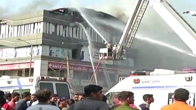 Fire breaks out in Surat coaching centre