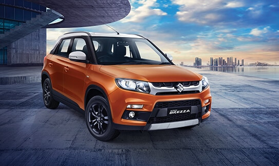 #6:  Maruti Suzuki's Vitara Brezza with 10,362 units sold ranked sixth on the list. The model, however, saw a steep fall in sales, registering a 28 percent decline. (Image: MSI website/Caption: PTI)